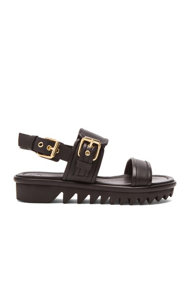 Giuseppe Zanotti Bucked Leather Sandals in Black