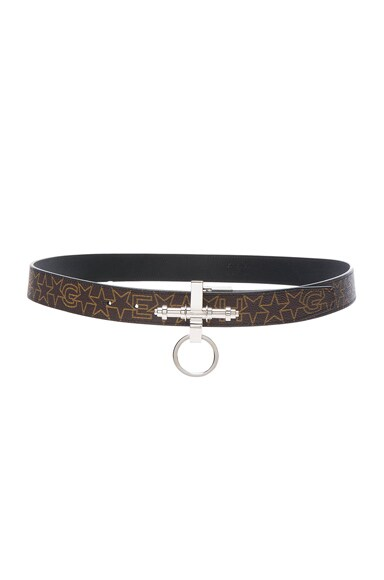 Givenchy Obsedia Belt in Brown & Beige