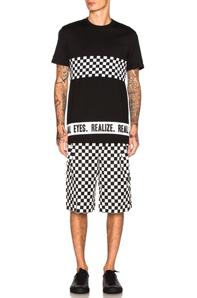 Checkerboard Print Shorts