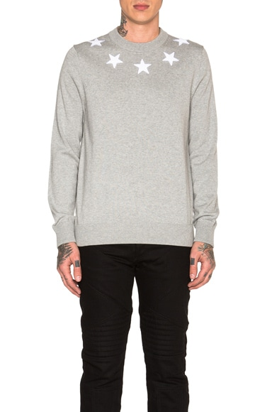Star Collar Crew Neck Jumper