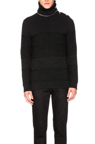 Givenchy Knit Turtleneck Sweater in Black