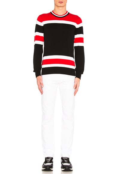 Light Gauge Stripe Sweater