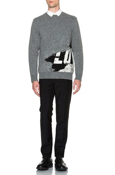Love Print Jacquard Sweater