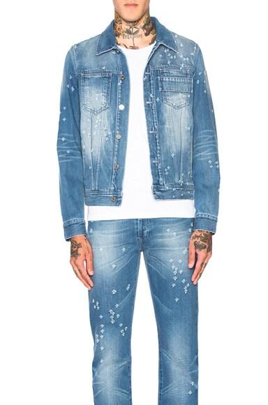 Givenchy Denim Jacket in Pale Blue & Sky Blue