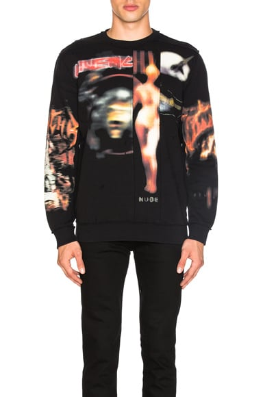 Givenchy Cuban Fit Heavy Metal Sweatshirt in Black