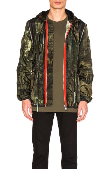 Givenchy Printed Lightweight Jacket in Khaki