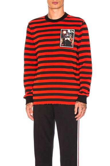 Destroyed Striped Sweatshirt