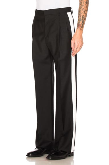 Givenchy Contrast Stripe Trousers in Black & White
