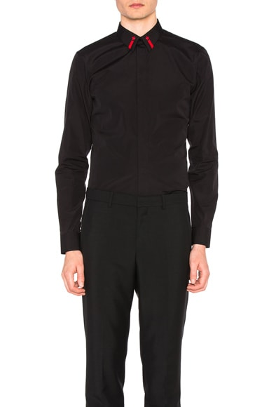 Givenchy Collar Detail Shirt in Black