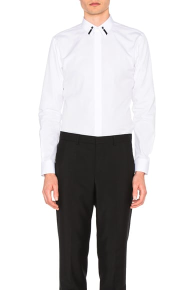 Givenchy Collar Detail Shirt in White