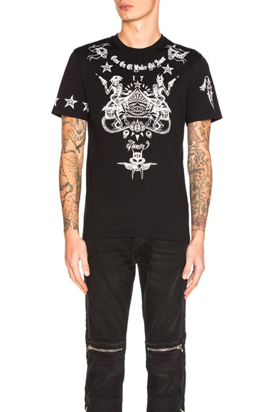 Givenchy Printed Tee in Black