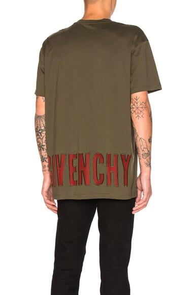 Givenchy Sheer Logo Tee in Khaki