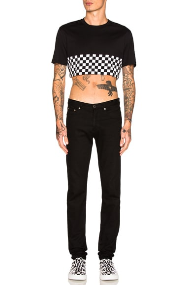 Cropped Checkerboard Tee