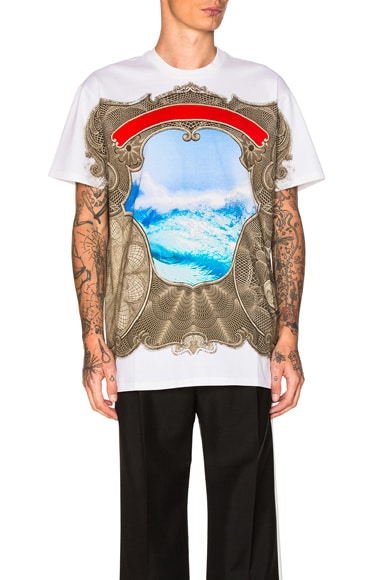 Givenchy Wave Print Tee in Black