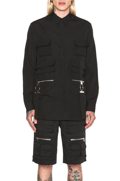 GIVENCHY Multi Pocket Shirt in Black