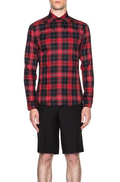 GIVENCHY Plaid Shirt in Red