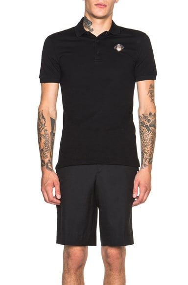GIVENCHY Rottweiler Embroidered Polo in Black