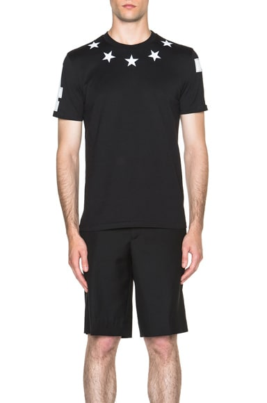 GIVENCHY Star Collar Tee in Black