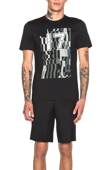GIVENCHY Graphic Camo 17 Tee in Black