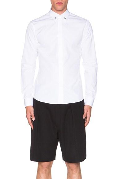 Silver Star Contrast Collar Shirt