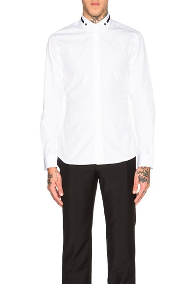 Embroidered Band & Star Collar Shirt