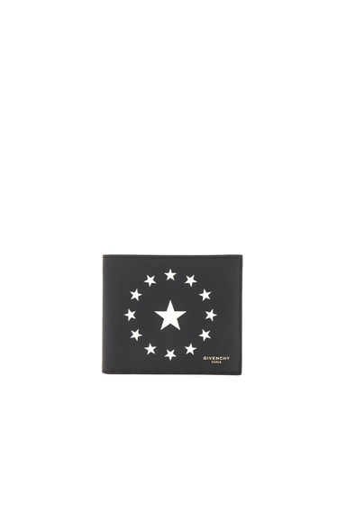 Star Print Billfold Wallet