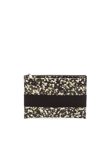 GIVENCHY Runway Baby's Breath Print Pouch in Multi