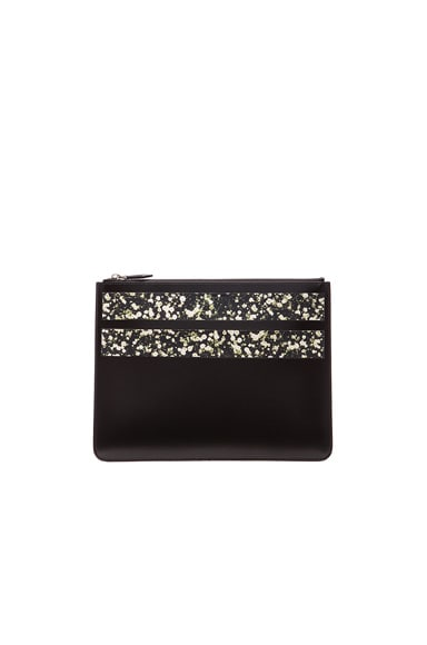 GIVENCHY Large Pouch with Floral Stripes in Black