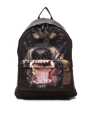 GIVENCHY Rottweiler Print Nylon Backpack in Multi