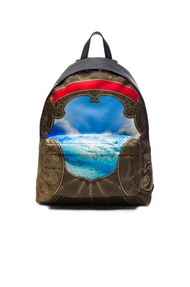 Wave Print Backpack