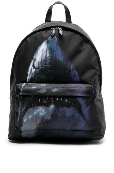Shark Print Backpack