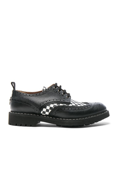 Checkerboard Leather Dress Shoes
