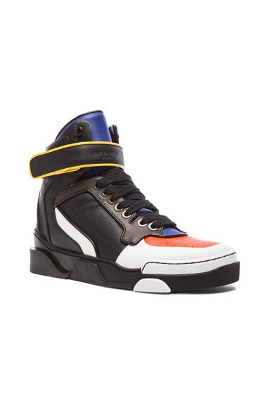 GIVENCHY Multicolor Tyson Leather Sneakers in Black