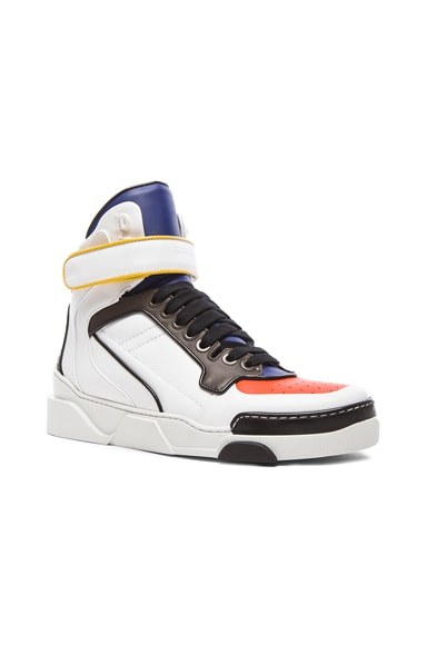 GIVENCHY Multicolor Tyson Leather Sneakers in White