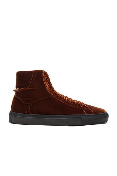 Knots Urban High Velvet Sneakers
