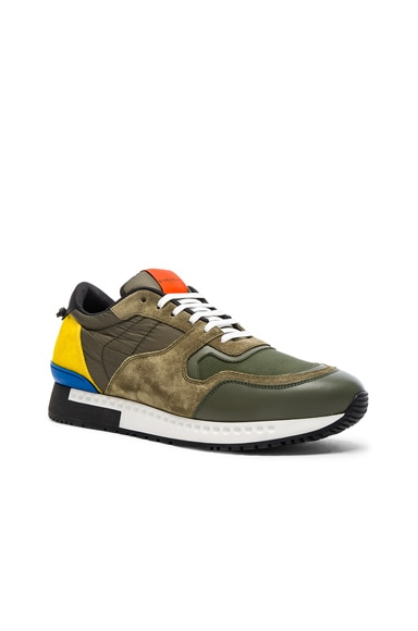 Givenchy Runner Active Sneakers in Khaki & Yellow