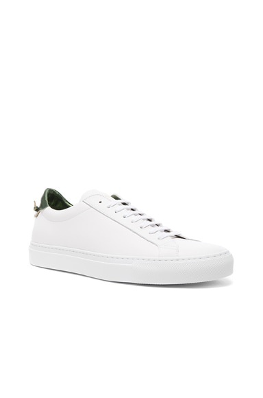 Givenchy Leather Urban Street Low Sneakers in Salvia