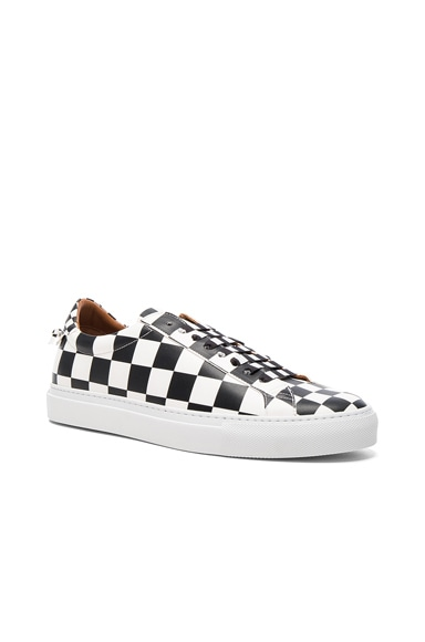 Givenchy Leather Urban Street Low Sneakers in Black & White