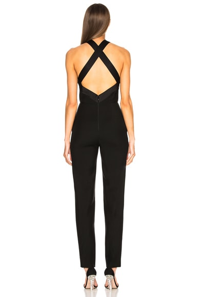 Bow Front Cross Back Jumpsuit