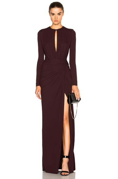 Givenchy Gown in Burgundy