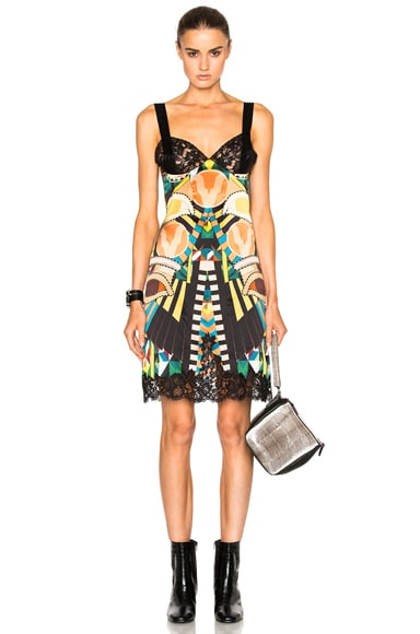 Crazy Cleopatra Printed Silk Satin Dress