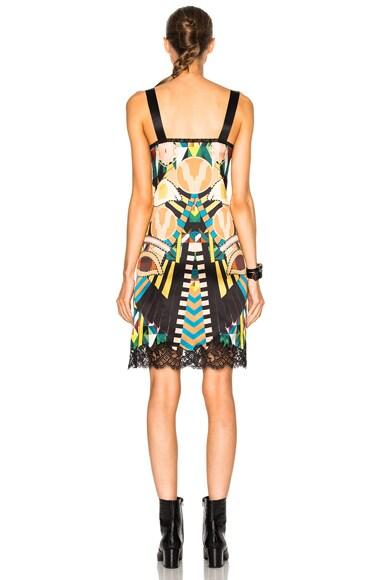 Crazy Cleopatra Printed Silk Satin Dress