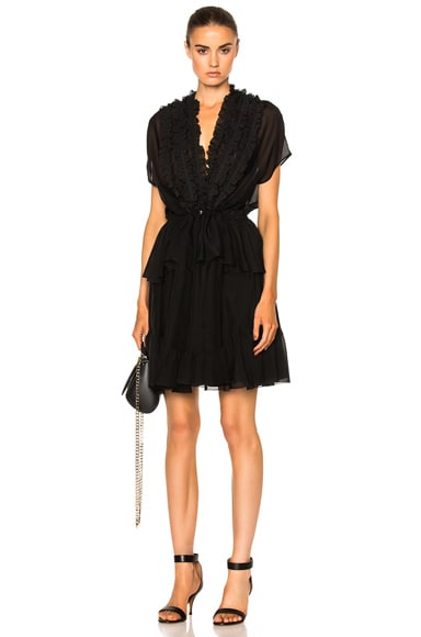 Givenchy Ruffled Silk Dress in Black