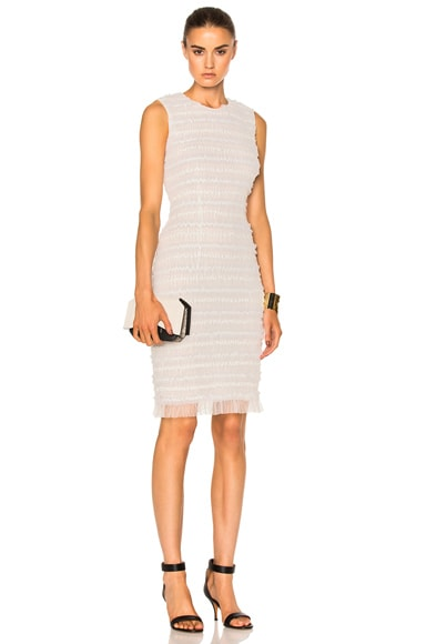 Givenchy Sleeveless Tulle Dress in White