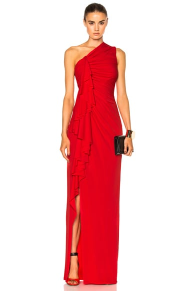 Givenchy Fluid Crepe Gown in Red