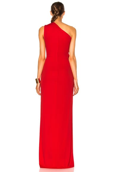 Fluid Crepe Gown