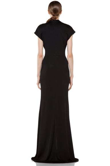 Viscose Gown with Slit