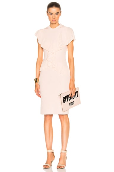 Givenchy Pleated Dress in Skin