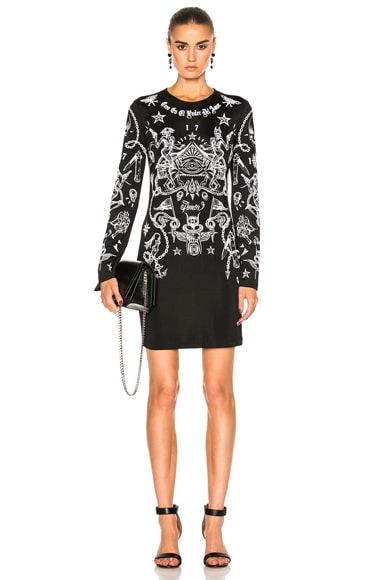Givenchy Tattoo Dress in Black