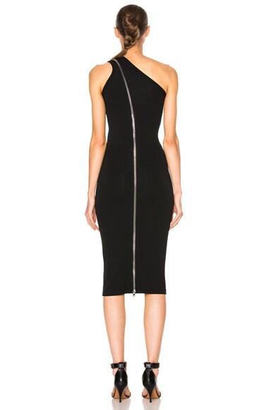 One Shoulder Zip Detail Maxi Dress